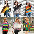 20 Colors Boho Womens Batwing Sleeve Print Loose Chiffon Blouse T Shirt Cape Top
