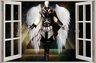 Huge 3D Window view Fantasy Angel Wall Sticker Film Mural Art Decal Wallpaper