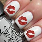 Red Sexy Lips Manicure Water Transfer Celebrity Decals For Nails Nail Art  #099