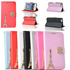 New Diamond Tower Flip Wallet Stand PU Leather Case Cover Skin For iPhone 5C