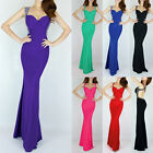2014 Backless Evening Prom Party Long Gown Bridesmaid Dress UK 6/8/10/12/14/16++
