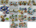 More Style Mixed Cloisonne Enamel Heart Spacers/Charms O73