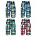 BOYS CHECKED MULTIPOCKET SHORTS KIDS LIGHTWEIGHT SUMMER CARGO COMBAT 3-14 YEARS