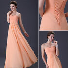 2015 Sweetheart Chiffon Long Formal Bridesmaid Evening Party Cocktail Gown Dress