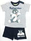 Baby Looney Tunes Tshirt and Short Set - Navy and White - Sylvester