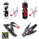 Durable 750ml Mountain Sport Bike Cycling Outdoor Water Bottle+Holder Cage Rack