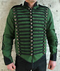 Green Black Military Jacket Braid Parade Tunic Guard Coat Costume Wedding