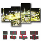 ' Kaaba Mecca Mosque Saudi Arabia ' Islamic Religion Wall Art Canvas ~ 4 Panels