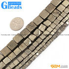 "New cube silver gray pyrite loose beads 15"" jewelry making 3mm 4mm 6mm 8mm 10mm"
