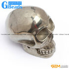 New pretty  Skull & Elephants shape silver gray pyrite Decoration 1 pcs