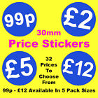 Blue Promotional Display Stand Point Of Sale Retail Price Stickers Sticky POS