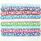 LULU - SMALL FUNKY FLORAL POLY COTTON FABRIC 9 COLOURS fashion craft children