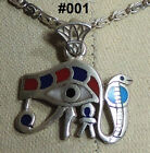 """Hall marked Egyptian Pharaonic Silver Pendant """"UDJAT'S EYE"""" Many To Choose From"""