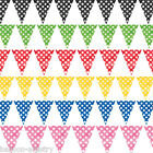 12ft Polka Dot Spot Spotty Party Supplies Pennant Banner Bunting Decoration