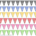 12ft Candy STRIPES Striped Party Supplies Pennant Banner Bunting Decorations