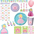 Birthday Party Decorations Set Princess Theme Kids Girls Decor Supplies