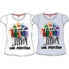 One Direction 1D T-shirt Top White or Grey,  100% official, Age 8-14