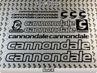 "17 Set CANNONDALE Bicycles Bikes Decals Stickers Frame 11"" COLORS Available A58F"
