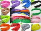 Wholesale Lots 10/20/50/100/200Pcs ORGANZA RIBBON Cord LOBSTER CLASP Necklaces