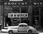 1942 JAPANESE INTERNMENT I AM AMERICAN SAN FRANCISCO LANGE PHOTO