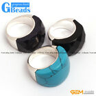 G-beads mixed beads tibetan silver base ring15x25mm fashion jewelry hot sale