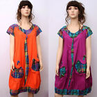 CX148 Women Summer Clothing Casual Dress Long Skirt Gown Robe Chinese Trend