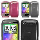 Perfect Fit TPU Gel Skin Case Silicone Cover For HTC Desire S - Choose Colour