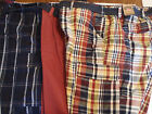 The Foundry Co Mens 52 50 or 48 Choice Plaid or Solid Belted Cargo Shorts NWT