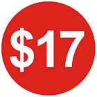 1 1/4 Inch 30mm Bright Red $ Dollar Price Point Stickers Sticky Labels Tags $1