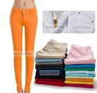 Women Stretch Candy Color Pencil Pants Casual Slim Skinny Jeans Trousers Legging