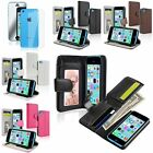 Colors Flip Wallet Leather Case+Full Body Mirror SP For Apple iPhone 5C