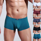 2014 Sexy Men's Low Rise Smooth Underwear Boxer briefs Enhance Pouch Size S M L