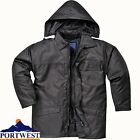 Men's Workwear 100% Oxford Nylon PU Coated Security Jacket Attached Hood
