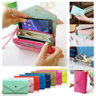 Crown Wristlet Leather Wallet Case Cover For Sony Xperia Z2 Z 2 II D6502 D6503