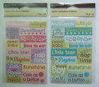 ~Your Choice~ Recollections ~BABY GIRL/BOY PHRASES~ Textured Stickers; WORDS