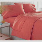 600 TC Egyptian Cotton DUVET COVER Percale Light Red