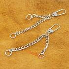 20 50 100 pcs Double Chain Keyring keychain for Bag Charms bead zips A86F3