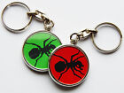 THE PRODIGY Electric Dance Band Chrome Keyring Choose Your Design! Both Sides!