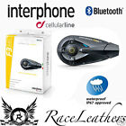 INTERPHONE F3MC MOTORCYCLE HELMET BLUETOOTH HEADSET INTERCOM TWIN SINGLE PACK