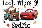 Cars Personalized Birthday T-shirt Custom Tee Cars and Mater Bday Tshirt Gift