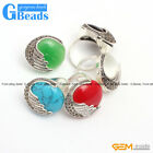 Pretty 24mm button beads vintage tibetan silver marcasite ring 5 materials selec