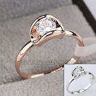 A1-R3126 Fashion Solitaire Ring 18KGP use Swarovski Crystal