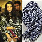2014 Women Classic Style Must-have Houndstooth Shawl Scarf Wrap Black&white