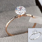A1-R3132 Fashion Solitaire Ring Metal Craft 18KGP Use Swarovski Crystal