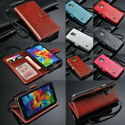 Luxury Wallet Leather Card Flip Stand Case Skin Cover For Samsung Galaxy S5 GS 5