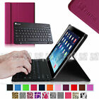 Ultra Slim Leather Cover Case for iPad 2/3/4 with Detachable Bluetooth Keyboard