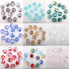 Beautiful 50Pcs Czech Crystal Glass AB Colorful Big Hole Spacer Bead 8MM