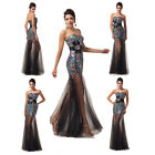 Shining Sequins Womens Bridesmaid Formal Evening Party Cocktail Gown Prom Dress