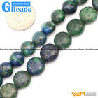 "Coin Gemstone Lapis Lazuli Malachite Jewelry Making Beads Strand 15"" 8 10 12mm"