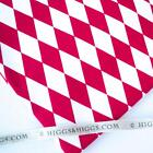 RED AND WHITE DIAMOND PATTERN - 100% COTTON FABRIC